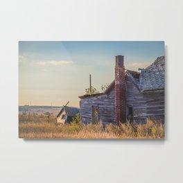 Falling Farm House, North Dakota 11 Metal Print