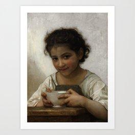 """William-Adolphe Bouguereau """"La soupe au lait"""" Art Print"""