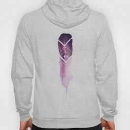 Purple Tribal Feather Hoody