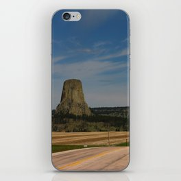 Road To Devils Tower iPhone Skin