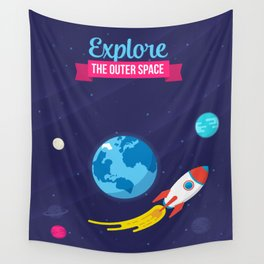 Explore the outer Space Wall Tapestry