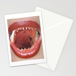 Shark Mouth Lips Stationery Cards
