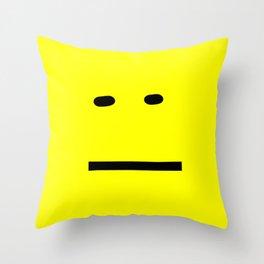 anxiety awareness face Throw Pillow