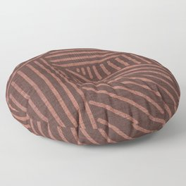 Terracotta clay lines - textured abstract geometric Floor Pillow