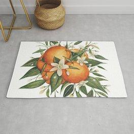 Orange Blossoms Rug