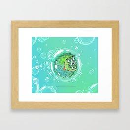 Bacillus B0b on bubble-transport Framed Art Print