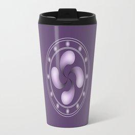 LAUBURU IN PURPLE (abstract geometric symbol) Travel Mug
