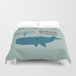 Glitter Whale Duvet Cover
