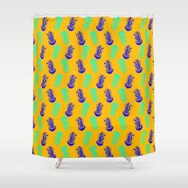 Jellyfish (yellow) Shower Curtain