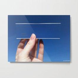 Blue is the Sky: Flying Fish Metal Print