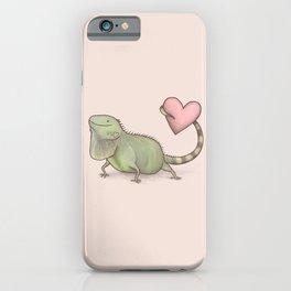 Iguana Love You iPhone Case