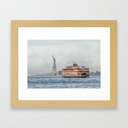 Ferry & Liberty Framed Art Print
