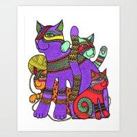 Cat Zen 14 Art Print