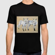 foxes MEDIUM Black Mens Fitted Tee