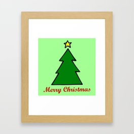 Merry Christmas, Christmas Tree Framed Art Print
