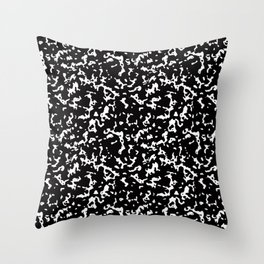 Black and White Composition Notebook Throw Pillow