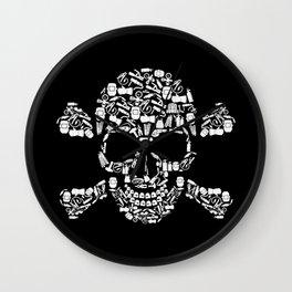 Skull Welder Equipment Wall Clock