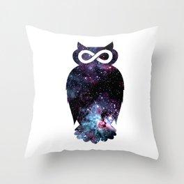 Super Cosmic Owlfinity Throw Pillow