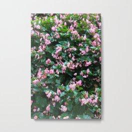 wall of pink flowers Metal Print