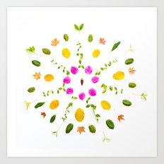 Leaf Mandala Art Print