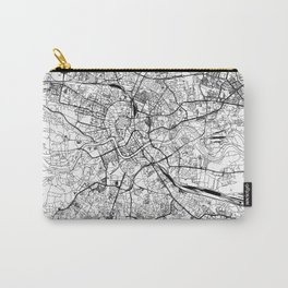 Krakow White Map Carry-All Pouch