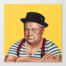 Hipstory -  Winston Churchill Canvas Print