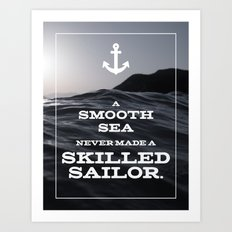 Skilled Sailor Art Print