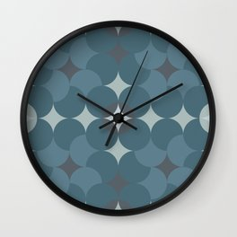 Blueprint Pattern N3 Wall Clock