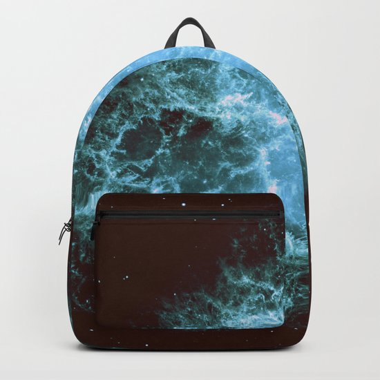 Crab Nebula Freshwater Blue teal Backpack