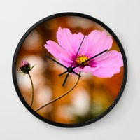 cosmos Wall Clocks featuring Cosmos by LudaNayvelt