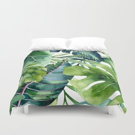 Tropical Jungle Leaves Duvet Cover
