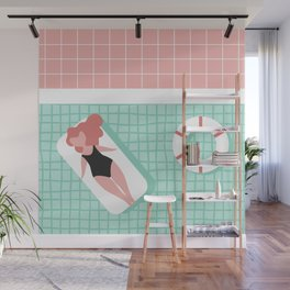 Pool Day Wall Mural