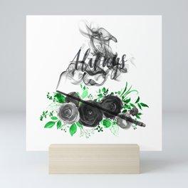 Always Green and Black Mini Art Print