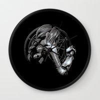fullmetal Wall Clocks featuring Edward Metal by BradixArt