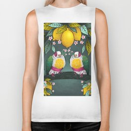 Yellow Headed Fruit Dove Biker Tank
