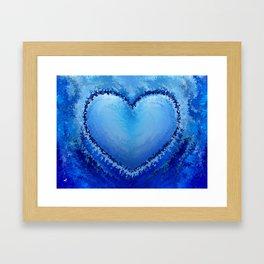 Ice Heart by rafi talby Framed Art Print