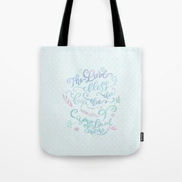 You Are Loved Mom - Number 6:24 - Polka dots Tote Bag