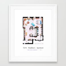 Carrie Bradshaw apartment from Sex and the City v2 Framed Art Print