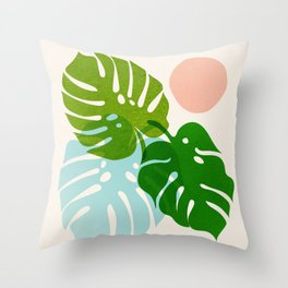 Abstraction_FLORAL_NATURE_Minimalism_001 Throw Pillow