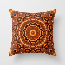 Africa sunset 3D kaleidoscope Throw Pillow