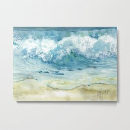 Ocean Waves Solana Beach Metal Print