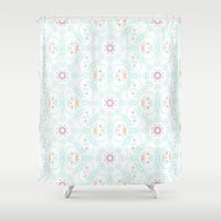 doodle Shower Curtains featuring Doodle by Truly Juel