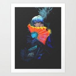 BTS Jimin on MMA 2018 Art Print