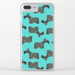 Scottie, Scottish Terrier,  Aberdeen Terrier Clear iPhone Case
