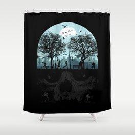 Urban Life Cycle Shower Curtain