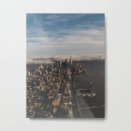 Flying High above NYC Metal Print