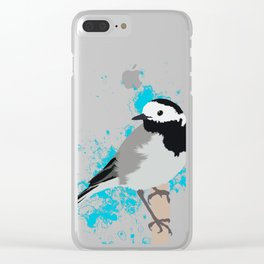 Pied Wagtail Clear iPhone Case