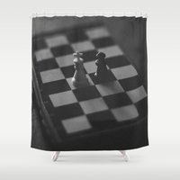 chess Shower Curtains featuring Chess by Anomaly Studio