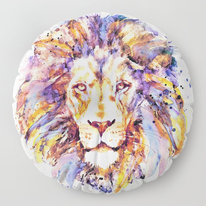 Lion Head Floor Pillow