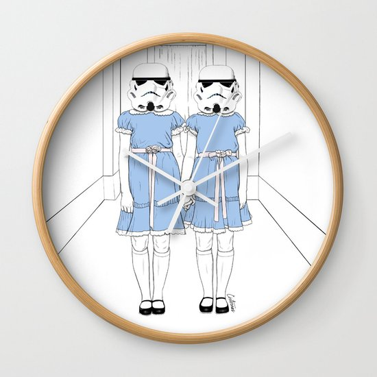 Grady twins troopers Wall Clock